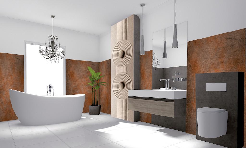 Dusche Und Wand, Motive Steinoptik, Holzoptik   Bild 1 ...