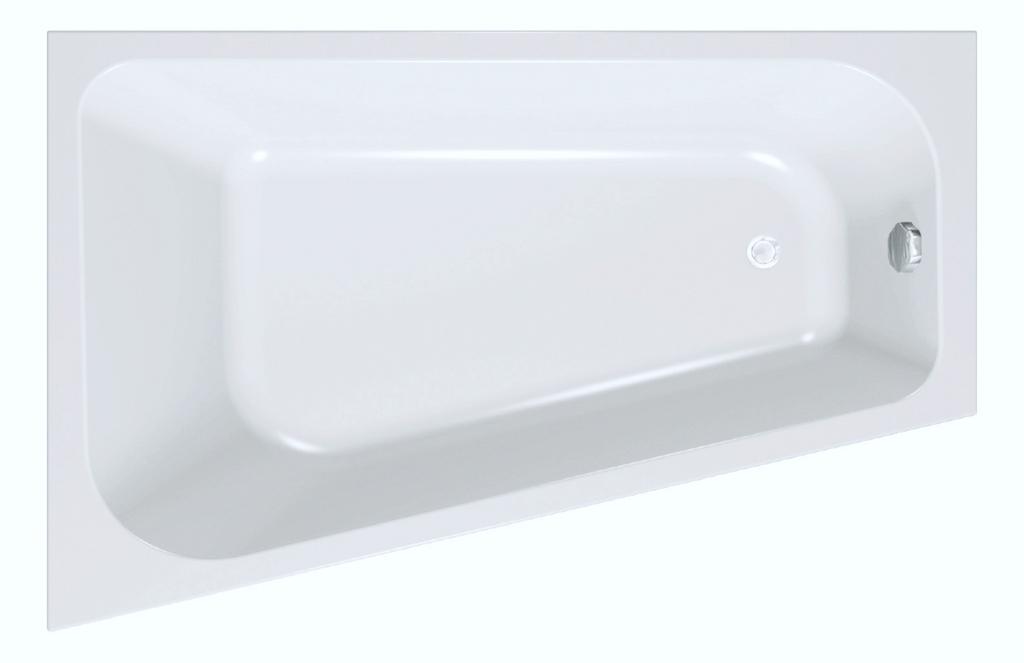 Logo Trapez Badewanne 170x110x45cm Gegossenes Acryl Inkl Fuß